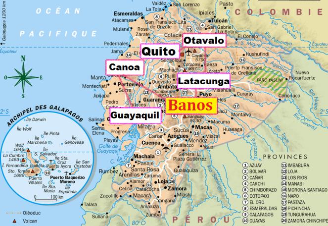 map banos